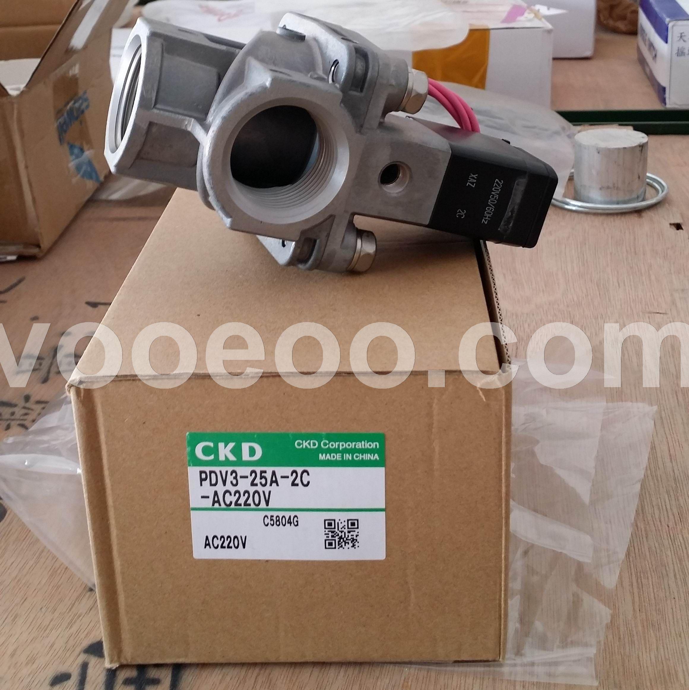 低价供应日本原装CKD先导式2通电磁阀PDV3-20A